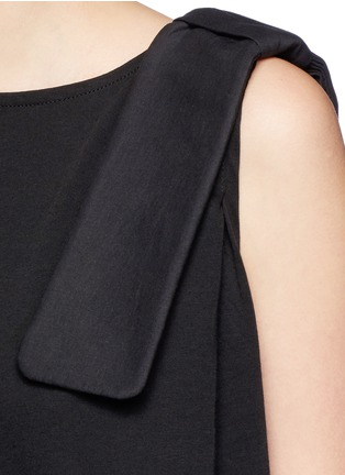 Detail View - Click To Enlarge - VICTORIA, VICTORIA BECKHAM - Bow shoulder jersey tank top