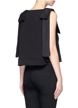 Back View - Click To Enlarge - VICTORIA, VICTORIA BECKHAM - Bow shoulder jersey tank top