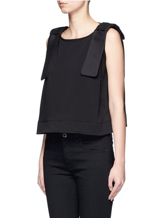 Front View - Click To Enlarge - VICTORIA, VICTORIA BECKHAM - Bow shoulder jersey tank top
