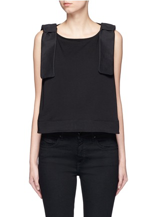 Main View - Click To Enlarge - VICTORIA, VICTORIA BECKHAM - Bow shoulder jersey tank top