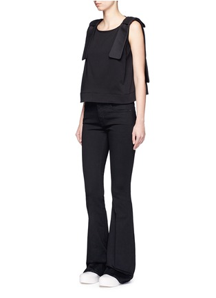 Figure View - Click To Enlarge - VICTORIA, VICTORIA BECKHAM - Bow shoulder jersey tank top
