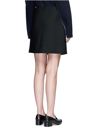 Back View - Click To Enlarge - VICTORIA, VICTORIA BECKHAM - Tie front twill skirt