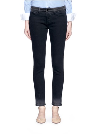 Detail View - Click To Enlarge - VICTORIA, VICTORIA BECKHAM - 'Ankle Slim' dipped fade hem jeans