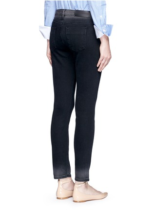 Back View - Click To Enlarge - VICTORIA, VICTORIA BECKHAM - 'Ankle Slim' dipped fade hem jeans