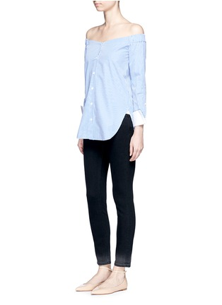 Figure View - Click To Enlarge - VICTORIA, VICTORIA BECKHAM - 'Ankle Slim' dipped fade hem jeans
