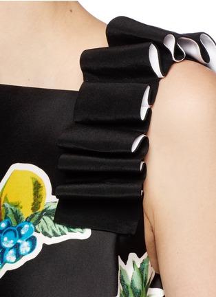 Detail View - Click To Enlarge - VICTORIA, VICTORIA BECKHAM - Mix fruit print duchesse satin dress