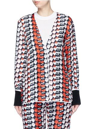 Main View - Click To Enlarge - VICTORIA, VICTORIA BECKHAM - Strawberry print silk twill pyjama shirt