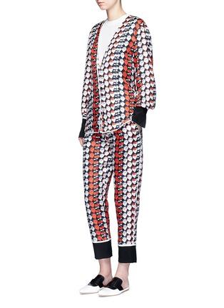 Figure View - Click To Enlarge - VICTORIA, VICTORIA BECKHAM - Strawberry print silk twill pyjama shirt