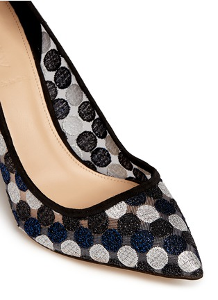 Detail View - Click To Enlarge - J.CREW - Collection Elsie circle lace pumps