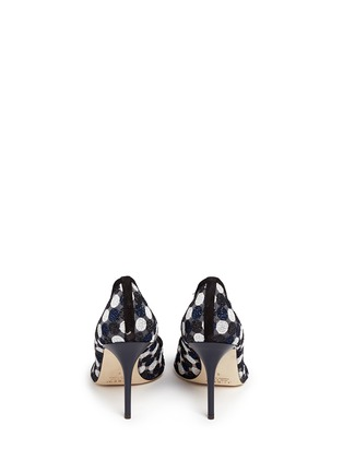 Back View - Click To Enlarge - J.CREW - Collection Elsie circle lace pumps