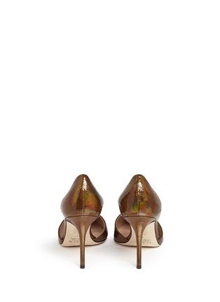 Back View - Click To Enlarge - J CREW SHOES - 'Elsie' crackled hologram d'Orsay pumps