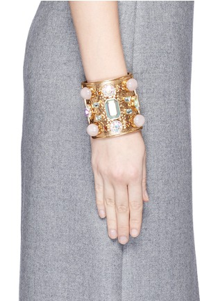 Figure View - Click To Enlarge - J.CREW - Wide crystal cuff bracelet