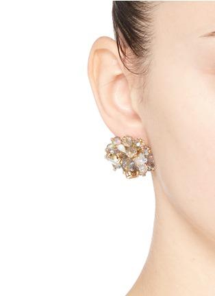 Figure View - Click To Enlarge - J.CREW - Jeweled geometric earrings