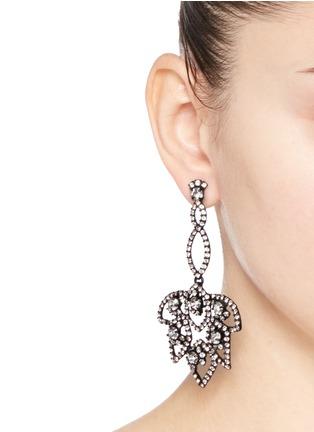 Figure View - Click To Enlarge - J.CREW - Lotus pavé earrings