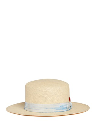 Main View - Click To Enlarge - My Bob - Streak band straw boater hat