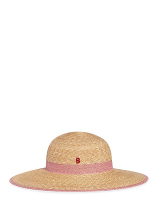 Figure View - Click To Enlarge - My Bob - Paper trim wide brim straw capeline hat