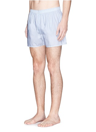 Figure View - Click To Enlarge - Sunspel - Dash grid print boxer shorts