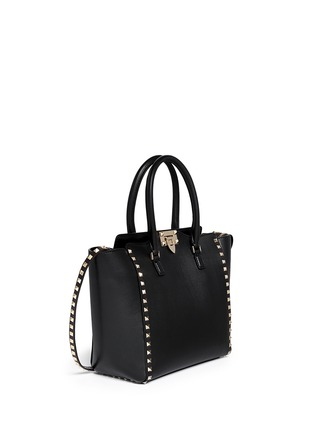 Figure View - Click To Enlarge - Valentino - 'Rockstud' medium leather zip tote