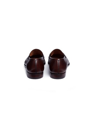 Back View - Click To Enlarge - GEORGE CLEVERLEY - 'George' Scotch grain leather penny loafers