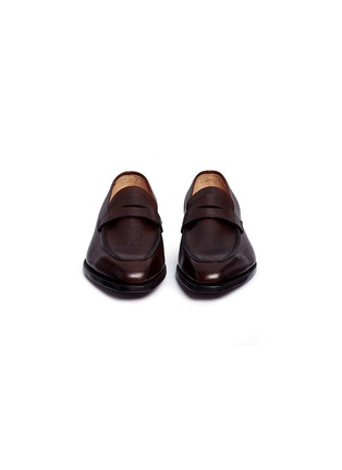 Front View - Click To Enlarge - GEORGE CLEVERLEY - 'George' Scotch grain leather penny loafers