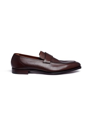 Main View - Click To Enlarge - GEORGE CLEVERLEY - 'George' Scotch grain leather penny loafers