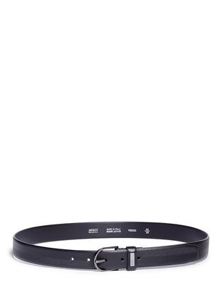 Main View - Click To Enlarge - Armani Collezioni - Chevron stripe leather belt