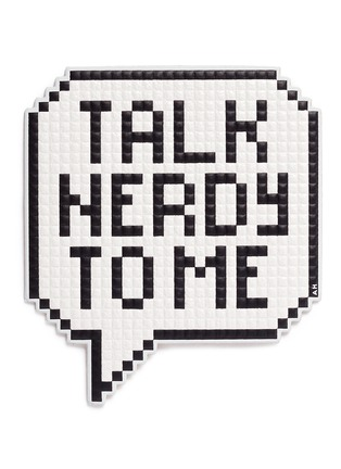 Main View - Click To Enlarge - Anya Hindmarch - 'Talk Nerdy' oversized embossed leather sitcker