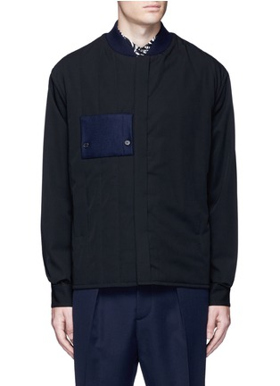 Main View - Click To Enlarge - Marni - Side split quilted wool bomber jacket