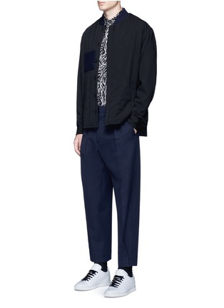 Figure View - Click To Enlarge - Marni - Side split quilted wool bomber jacket