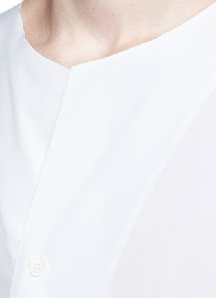 Detail View - Click To Enlarge - Marni - Drape front cotton shirt