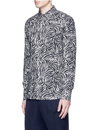 Front View - Click To Enlarge - Marni - Brushstroke print cotton shirt