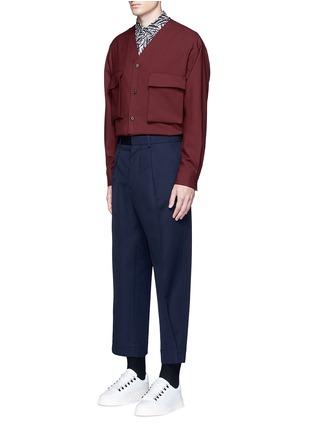 Figure View - Click To Enlarge - Marni - Brushstroke print cotton shirt