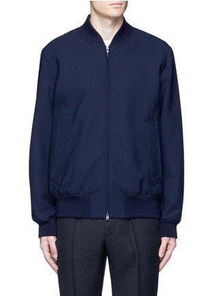 Main View - Click To Enlarge - Marni - Wool gabardine bomber jacket