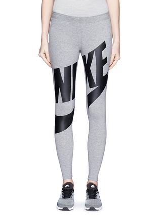 Main View - Click To Enlarge - Nike - 'Leg-A-See Exploded' logo print leggings