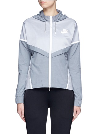 Main View - Click To Enlarge - Nike - 'Bonded Windrunner' colourblock zip jacket