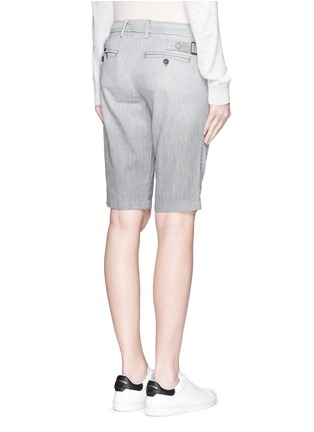 Back View - Click To Enlarge - Vince - Stripe denim Bermuda shorts