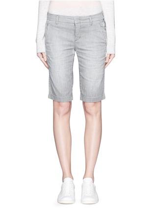 Main View - Click To Enlarge - Vince - Stripe denim Bermuda shorts