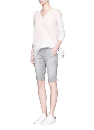 Figure View - Click To Enlarge - Vince - Stripe denim Bermuda shorts