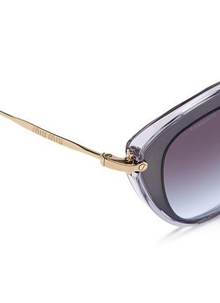Detail View - Click To Enlarge - miu miu - 'Noir' capped acetate metal sunglasses