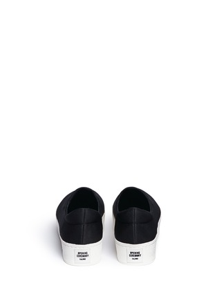 Back View - Click To Enlarge - Opening Ceremony - Twill flatform skate slip-ons