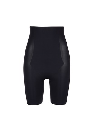 Main View - Click To Enlarge - Spanx By Sara Blakely - 'Thinstincts' high waist mid thigh shorts