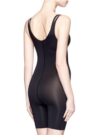 Back View - Click To Enlarge - SPANX BY SARA BLAKELY - 'Thinstincts' open bust mid thigh bodysuit