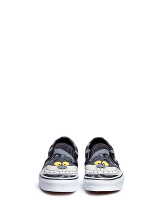 Figure View - Click To Enlarge - Vans - x Disney 'Classic' Chesire Cat print canvas kids slip-ons