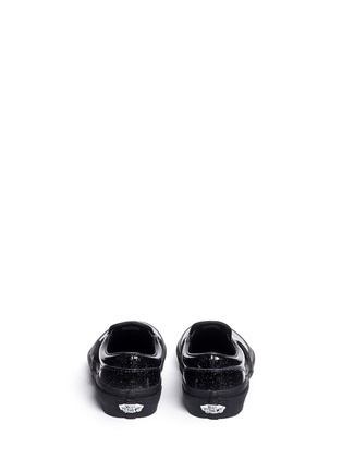 Back View - Click To Enlarge - Vans - 'Classic Patent Galaxy' glittle leather kids slip-ons