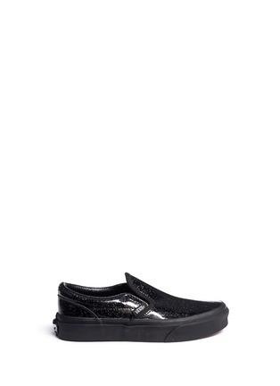 Main View - Click To Enlarge - Vans - 'Classic Patent Galaxy' glittle leather kids slip-ons