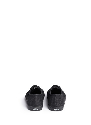 Back View - Click To Enlarge - VANS - 'Authentic Lo Pro' glitter mesh kids sneakers