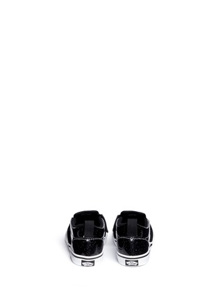 Back View - Click To Enlarge - Vans - 'Patent Galaxy Slip-on V' glitter leather toddler shoes