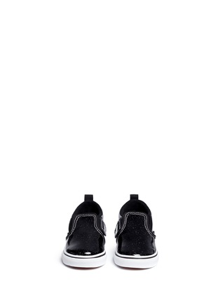 Figure View - Click To Enlarge - Vans - 'Patent Galaxy Slip-on V' glitter leather toddler shoes