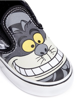 Detail View - Click To Enlarge - Vans - x Disney 'Classic' Chesire Cat print canvas toddler slip-ons