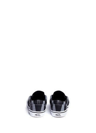 Back View - Click To Enlarge - Vans - x Disney 'Classic' Chesire Cat print canvas toddler slip-ons